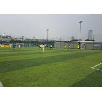 Buy Healthy Flat Artificial Football Turf Lively Olive Color Solid Backing 50mm Height at wholesale prices