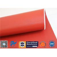 """Buy cheap 1150GSM Silicone Coated Fiberglass Fabric 0.85MM Red Fire Blanket 39.4"""" 50M Roll from wholesalers"""