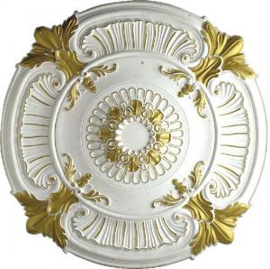 China PU medallion ceiling medallion gold sketch effect pu cornice moulding pu ceiling light pu medallion (HM-009) wholesale
