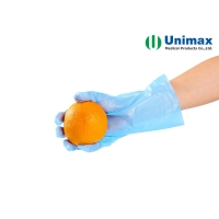 Quality Food Handling CPE Disposable Clear Plastic Gloves 0.045mm for sale