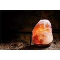 China Large Himalayan Salt Lamp Organic Material , Pink Crystal Salt Rock Lamp Night Light on sale