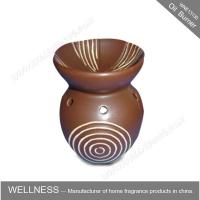 Quality Different Classic Shaped Ceramic Aroma Oil Burner With Spiral Pattern for sale