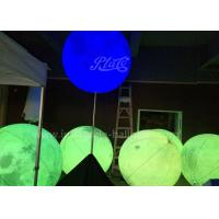 Quality Attractive Inflatable Lighting Balloon Planet Shaped With Stainless Stand Pole for sale