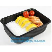 China takeaway food container disposable plastic lunch bento box,square PLA plastic food container,fast food package essential on sale