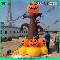 Quality 5m Halloween Inflatable  Decorations Halloween inflatable pumpkin Tree with lighting for sale