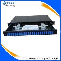 Quality Slidable 1U 24Port Fiber Optic Patch Panel With SC Connector for sale