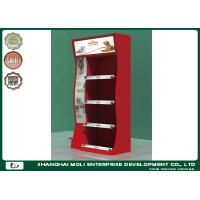 Quality Red Metal Retail Display Racks Portable Store Custom Power Tool Display for sale