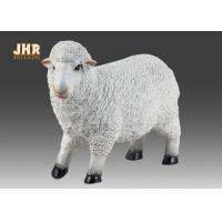 Quality Life Size White Color Polyresin Animal Figurines Dolly Sheep Sculpture Garden Decor for sale