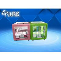 Quality Attractive Cute Cubic Baby Crane Game Machine / Mini Toy Claw Machine for sale
