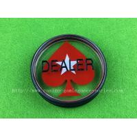 China Red Heart Poker Dealer Button Customized Casino All IN Button wholesale