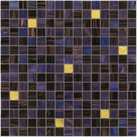 Quality Dark blue and purple with real gold waving tile 20mm glass mosaic mix patter for sale