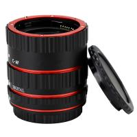 Quality Red Metal Auto Focus Macro Extension Tube Set For Canon SLR Cameras CANON EF EF-S Lens for sale