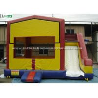 Quality PVC Tarpaulin Inflatable Bounce Houses With Slide Multifunctional for sale