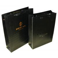 China Mermaid 1c+1c Printing Black 250g Paper Shopping Bags With Metal Tops Ribbon Handle on sale