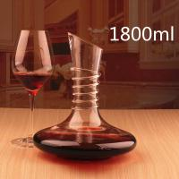 Quality 1800ml Non-Slip Spiral Design Lead-free Crystal Glass Red Wine Carafe Decanter for sale