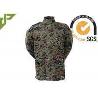 Digital Woodland Combat Uniform With Hook And Loop , Military Camouflage Uniforms