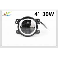 30w 4inch fog light with white angel eyes, led fog lamp for jeep wrangler, 4'' led fog lights manufacturers for offroad