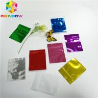 Quality Three Side Seal Foil Pouch Packaging Metalized Resealable Zipper For Tea / Milk Powder for sale