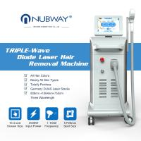 Quality newest 3 in 1 triple wavelength painless 808 755 1064 diode laser hair removal for all skin type for sale