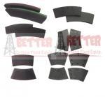 Quality BETTER BRAKE PAD BRAKE PLATE BRAKE BLOCK FOR PSZ PSK HYDRAULIC DISC BRAKE SYSTEM for sale