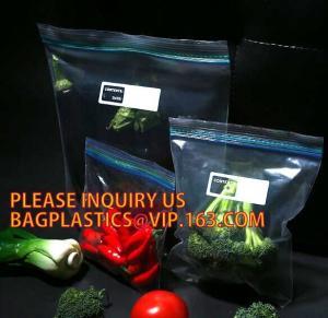Quality Eco-friendly PE Double Track Vacuum PE Plastic Zipper, Double Track Ziplock Plastic Bags /Zip Lock Clear Plastic Bag pac for sale