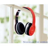 HF680S Foldable Four Channels Wireless Stereo Bluetooth Headphone V4.0 Red & Black
