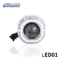 China LED01 Double angel eye without fan motorcycle led headlight projector lens on sale