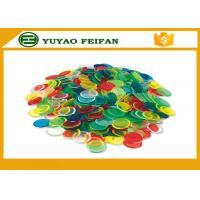 Quality Children Game Custom Plastic Bingo Chips ABS Poker Chips Solid Color 20mm*2mm for sale