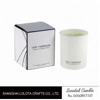 Quality Living Room Natural Soy Candles , Decorative Scented Candles In The Light White Color Bottle for sale
