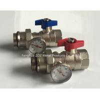 China Heating manifold ball valve with thermometer wholesale