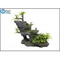 Quality Mountain Aquarium Fish Tank Resin Ornaments For Decorating With Plants for sale