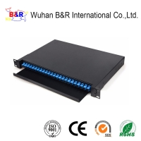 Quality Rack Mounted 24 Cores 1U ODF Fiber Optic Patch Panel for sale