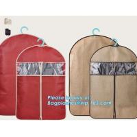 Buy pp woven garment cover, non woven garment bags, suit bags, suit cover, dust cover, non woven zipper clothes bags, clothe at wholesale prices