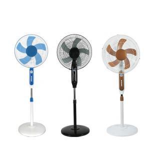 Quality Phosphate Battery 16in 25W Solar Metal Pedestal Fan 3 Block Wind for sale