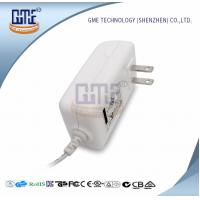 Quality White 2PIN AC DC Power Adapter , Wall Mount Power Adapter For Home Appliances for sale