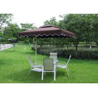 Quality 2.5 M Square Offset Patio Umbrella Stainless Steel Frame For Restaurants for sale