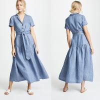 Buy cheap Clothing Manufacturer Striped Maxi Dresses For Women Summer from wholesalers