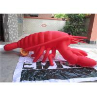Quality Silk Printing Large Inflatable Model Customized Red Inflatable Lobster for sale