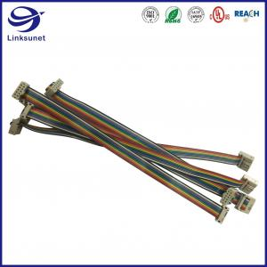 Quality Custom wiring harness with 3811 1.27mm connector add 26AWG PVC Flat Cables for sale