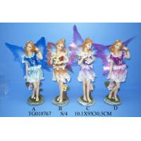 China Wedding Decorations Fairy Polyresin Figurine Resin Crafts With Skirts And Wings on sale