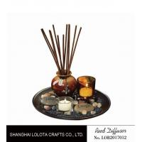 Brown Room Reed Diffuser For Large Room , Ceramic Aromatherapy Diffuser