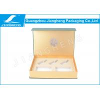 Cardboard Eco Friendly Magnetic Closure Gift Boxes Green For Cosmetics Packaging