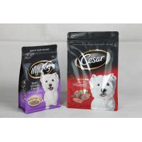 Resealable Printed Dog Food Packaging Flat Bottom Pouch with Zipper