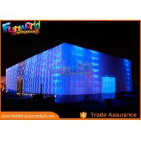 PVC Coated Nylon Inflatable Cube Tent With Led Lighting / Blow Up Event Tent