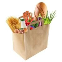 China Food Loading Paper handle bag in Fast Food Restaurant wholesale
