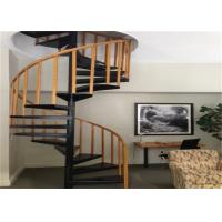 Buy cheap Solid wood stair treadstainless steel railing sprial staircase from wholesalers