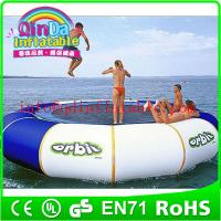 Quality QinDa Hot selling Outdoor Water Sports Games water blob trampoline for sale