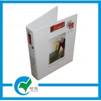Quality Black / Red / Green Gloss Lamination Cardboard Binder File Folder with Customized Logo for sale