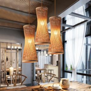 Quality Modern jute pendant lights For Living room Bedroom Restaurant Lighting Fixtures (WH-WP-16) for sale