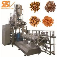 Quality 2-3t/H Food Extruder Machine , Dog Cat Fish Shrimp Bird Double Screw Extruder for sale